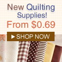 Quilting Supplies New Arrival, from $0.69