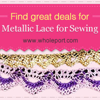 Find Great Deals for Metallic Lace for Sewing!