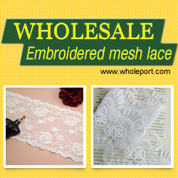 Embroidered Mesh Lace! Bestseller in Wholeport!