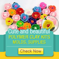 Cute and beautiful Polymer Clay Kit, Molds, Supplies!