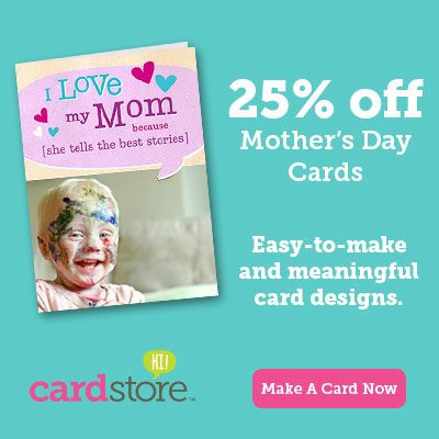 Save 25% on Mother's Day Cards at Cardstore!