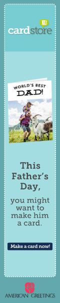 Affiliate Exclusive! $1.49 Father's Day Cards + Free Stamp when you let us mail it for you at Cardstore! Use Code: CAH4335, Valid through 6/9/14. Shop Now!