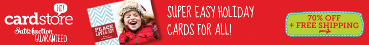 70% off Holiday Cards & Invites at Cardstore, Use Coupon Code: CCN2170