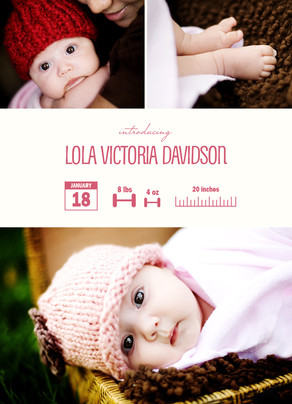 Affiliate Exclusive! $1.29 Holiday Birth Announcements at Cardstore! Use Code: CAM3456, Valid through 11/30/13. Shop Now!