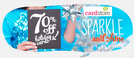 70% off Holiday Cards & Invites at Cardstore, Use Coupon Code: CCP2470