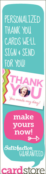 Personalized Thank You Cards We'll Sign & Send For You! Make Yours Now at Cardstore!