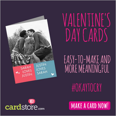 Customized Valentine's Day Cards at Cardstore are Easy-to-Make and More Meaningful! Make a Card Now!