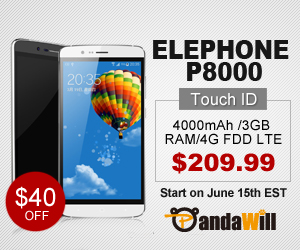 40$ Off for Elephone P8000 Smartphone