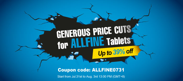 Up to 39% Off for Allfine Tablets