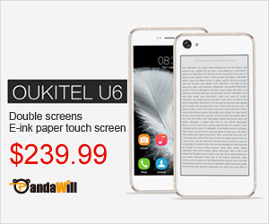 Oukitel U6 double screen E-ink paper touch screen only $239.99