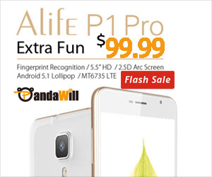 Flash Deal $99.99 for Blackview Alife P1 Pro  Front Touch ID 5.5 Inch 2GB 16GB Android 5.1