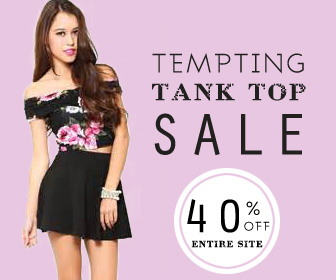 Tempting Tank Top Sale,40% off entire site