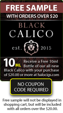 Halo Cigs: New Black Calico Fl...