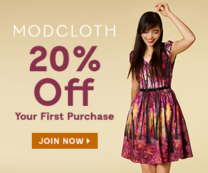 ModCloth 20% Off