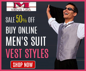 50% off on Men's Suit Vest Styles