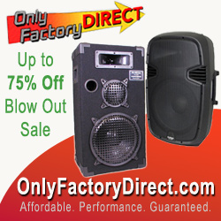 Up to 75% Off Blow-out Sale on many Loudspeakers and audio products.