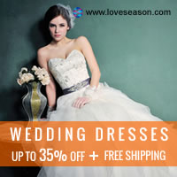 Loveseason: Get Up to 35% Off & Free Shipping No Minimum for Wedding Dresses