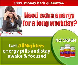 Need extra energy for a long workday? Get AllNighters energy pills and stay awake & focused