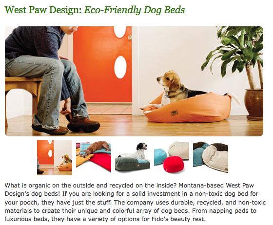 Organic dog bed