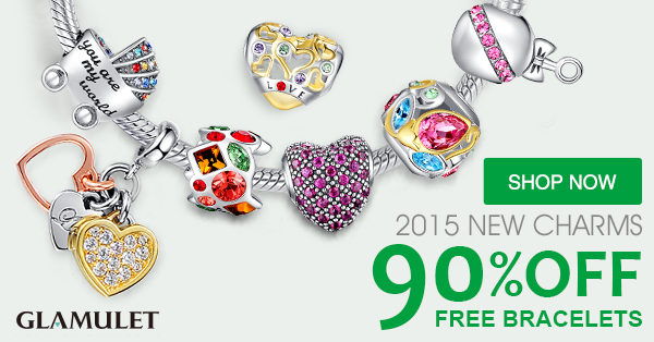 90% of Charms with Free bracelet
