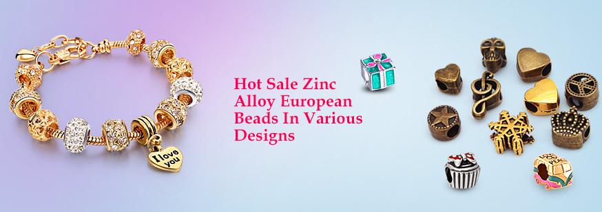 Zinc Alloy European Beads In Various Designs