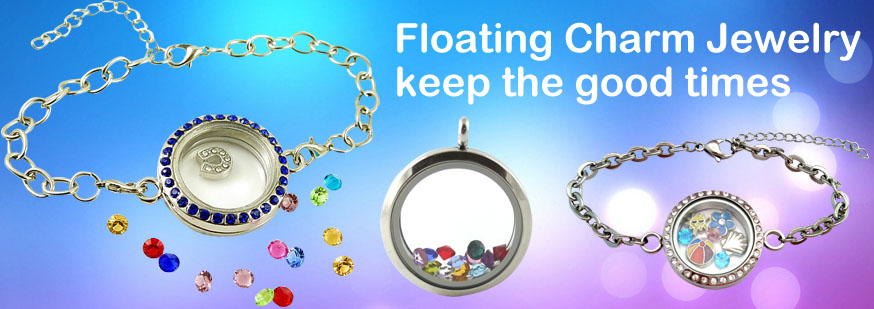 fashion floating charm jewelry at beads.us