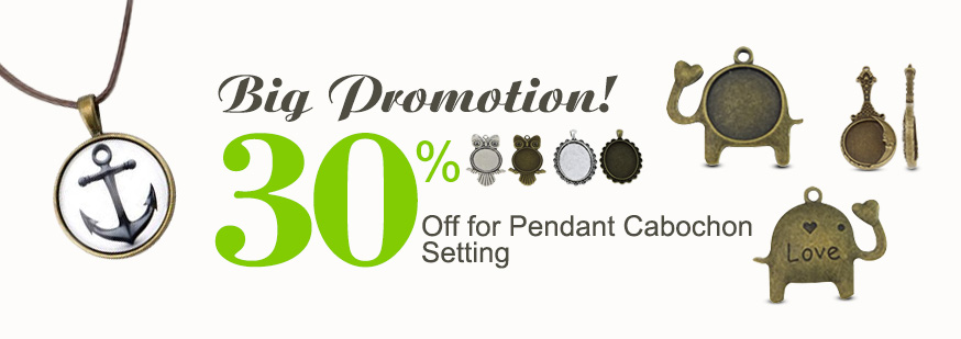 30% discount for pendant cabochon setting