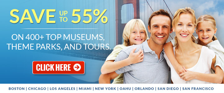 SAVE up to 55% OFF Top Attractions & Tours