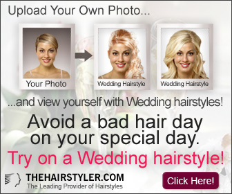 Find the perfect hairstyle for your wedding say! Sign up for our virtual hairtstyling tool at TheHairStyler.com
