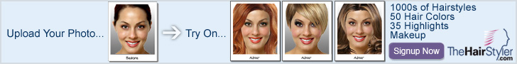 View Yourself in Over 8,000 Hairstyles! Hair designs for women or men