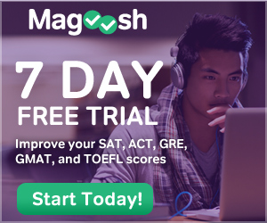 7 Day Free Trial at Magoosh.com.