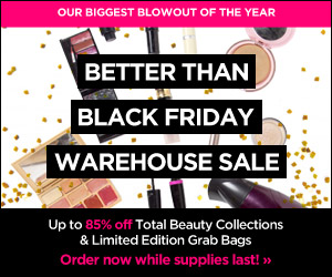 Get up to 85% Off Total Beauty Collections and Limited Editions Grab Bags.