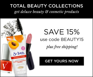 Use the code BEAUTY15 and get 15% Off your Total Beauty Collections purchase at TotalBeauty.com