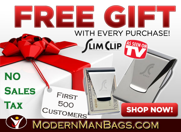 Free Money Clip & No Sales Tax  ModernManBags.com