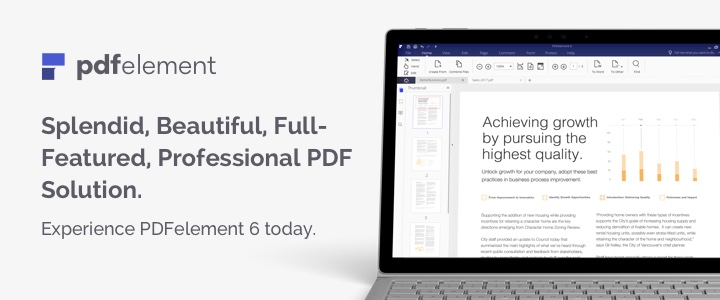 Check the PDFelement 6 feature list and see how to accelerate your business.