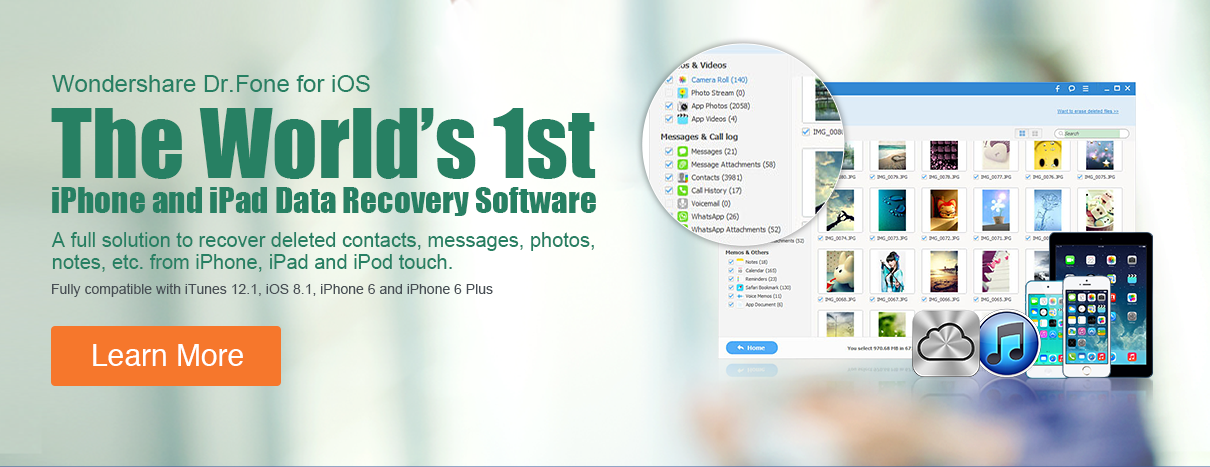 The World's 1st iPhone and iPad Data Recovery Software