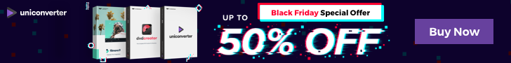 Up to 50% Off - UniConverter Black Friday Sales