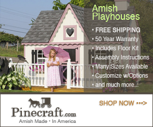 Amish Playhouses 300x250