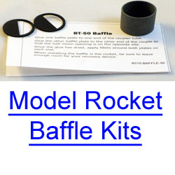 Model Rocket Baffle Kits