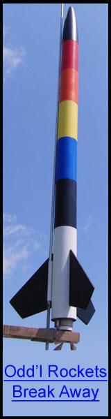 Odd'l Rockets Break Away Model Rocket Kit