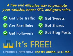 Improve Your Search Engine Visibility and Get Thousands of Page Views for Free! Join to Link Collider Now!