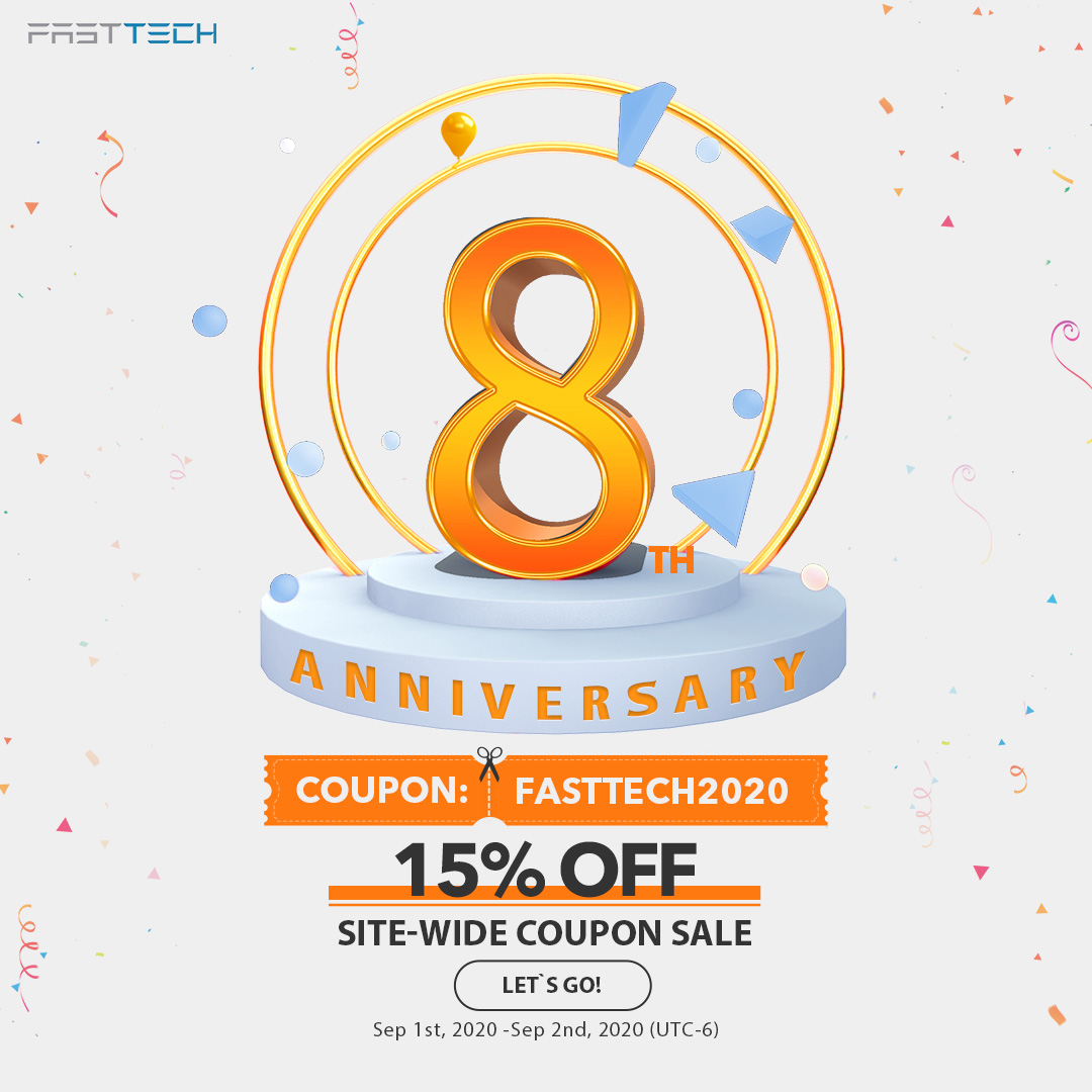 FastTech 8th Anniversary 15% off Site-Wide Sale