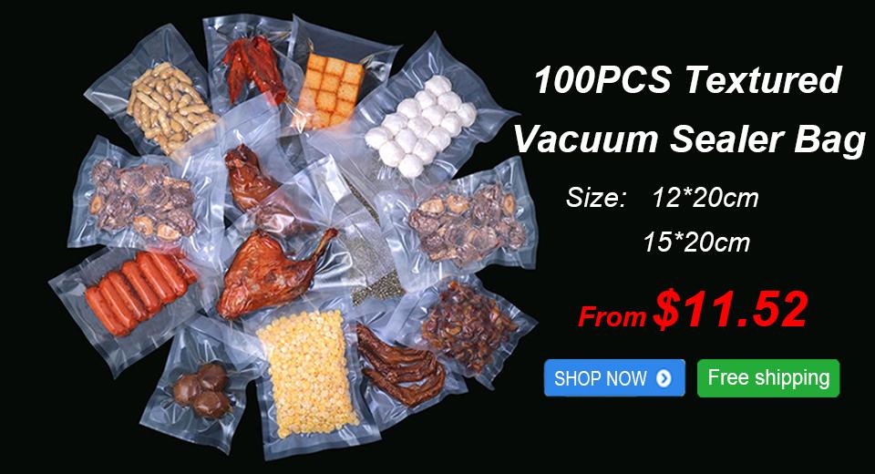 Hot Sale for the 100 pcs of Textured Vacuum Sealer Bag(15*20cm, 12*20cm)