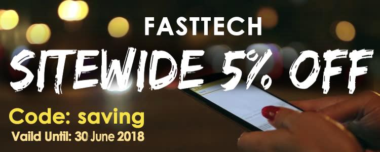 FastTechからのサイトワイド5%オフ