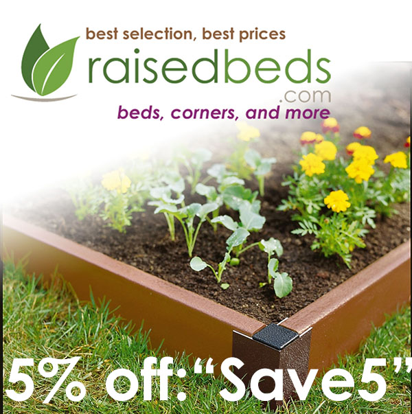 5% off at RaisedBeds.com - Best Site for Raised Garden Beds