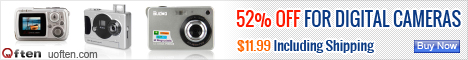 52% Off For Digital Cameras! $11.99 Including Shipping!