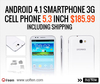 Android 4.1 Smartphone 3G Cell Phone 5.3 Inch $185.99 Including Shipping!