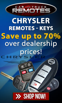 Chrysler Keyless entry remotes and key fob controls for up to 70% less than dealer prices- Shop now and save!