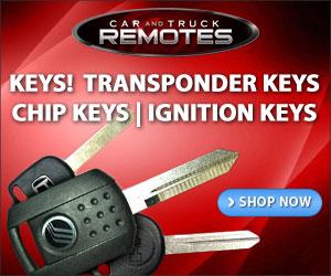 You'll find all types of keys at CarandTruckRemotes.com!