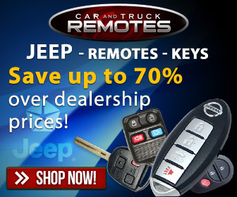 Jeep Keyless entry remotes and key fob controls for up to 70% less than dealer prices- Shop now and save!